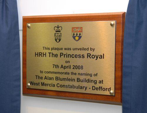 Commemorative plaque at RAF Defford