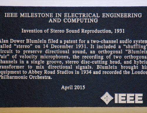 IEEE Milestone plaque for the invention of Stereo